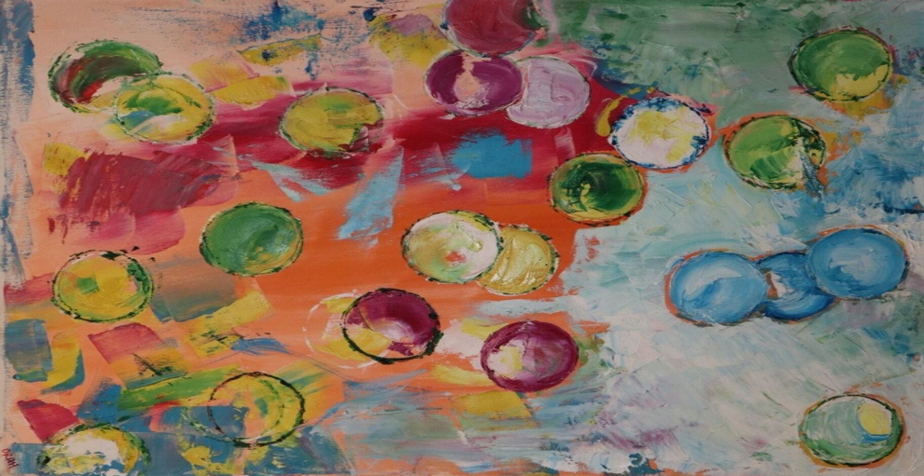 Abstract 2 oil paint ORAHART Israeli painter – Swetlana Zakharyan
