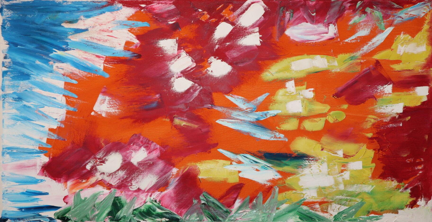 Abstract oil paint ORAHART Israeli painter – Swetlana Zakharyan