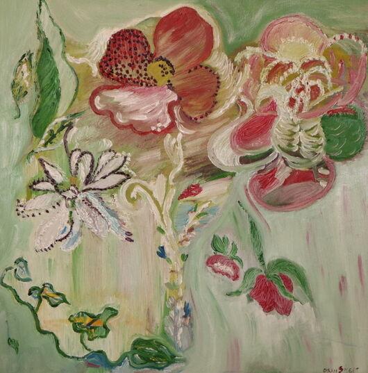 Flowers oil paint ORAHART Israeli painter – Swetlana Zakharyan