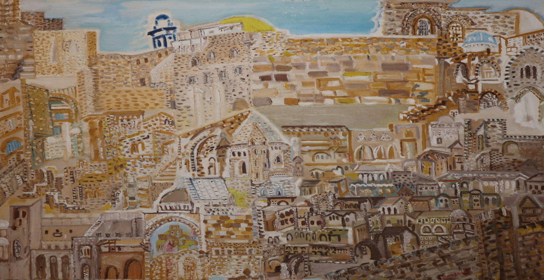 Jerusalem oil paint ORAHART Israeli painter – Swetlana Zakharyan