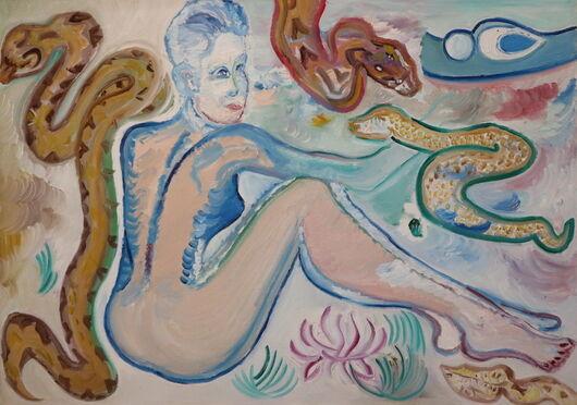 Snakes oil paint ORAHART Israeli painter – Swetlana Zakharyan